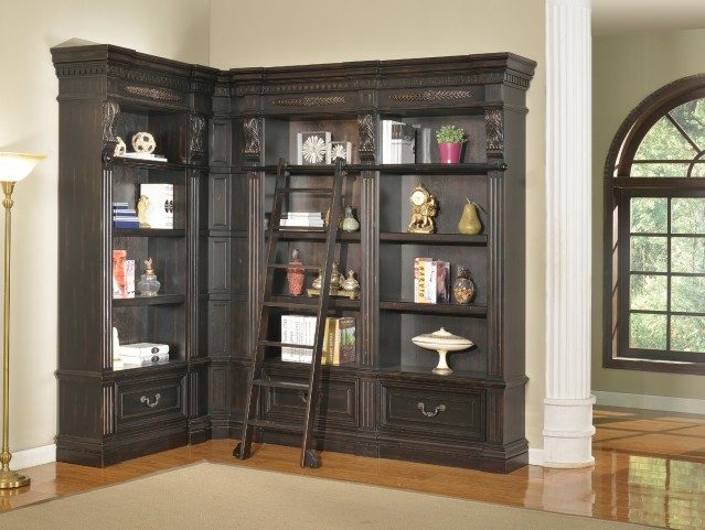 Grand Manor Palazzo L-Shape 3pc Bookcase