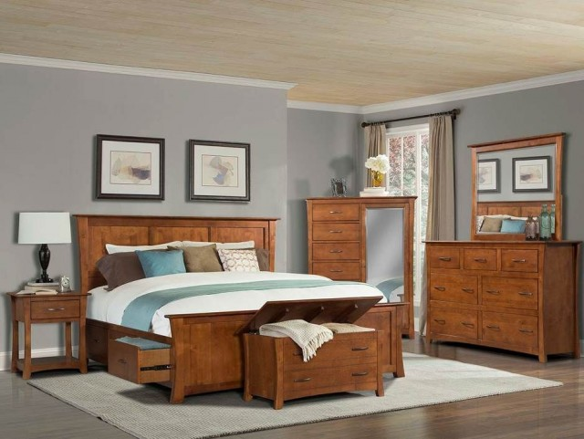 Grant Park Pecan Storage Bedroom Set