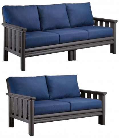Stratford Slate Gray Outdoor Living Set