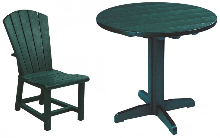 "Generations Green 37"" Round Pedestal Dining Room Set"