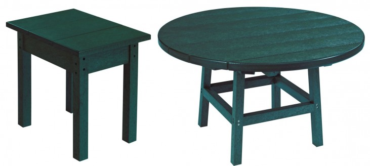 "Generations Green 37"" Round Occasional Table Set"