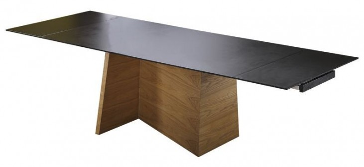 Groovy Black Extendable Rectangular Dining Table