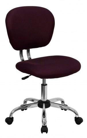 Mid-Back Burgundy Task Chair