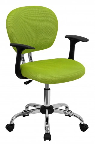 Mid-Back Apple Green Arm Task Chair