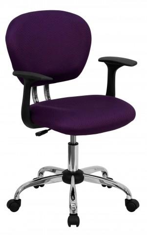 Mid-Back Purple Arm Task Chair