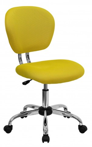 Mid-Back Yellow Task Chair