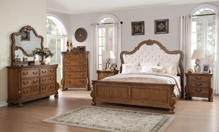 Belle Meade Sunkissed Pecan Panel Bedroom Set