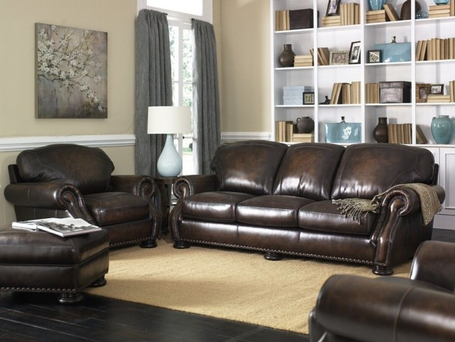 Carlton Antique Espresso Living Room Set