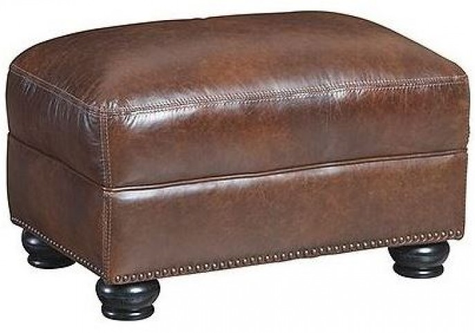 Charleston Hazelnut Antique Espresso Ottoman