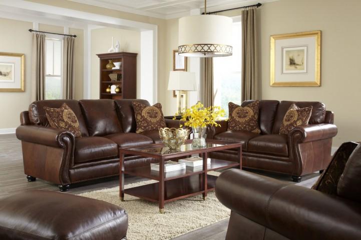 Charleston Hazelnut Antique Espresso Living Room Set