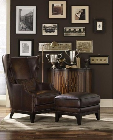 Forbes Accent Chair & Ottoman HB0D