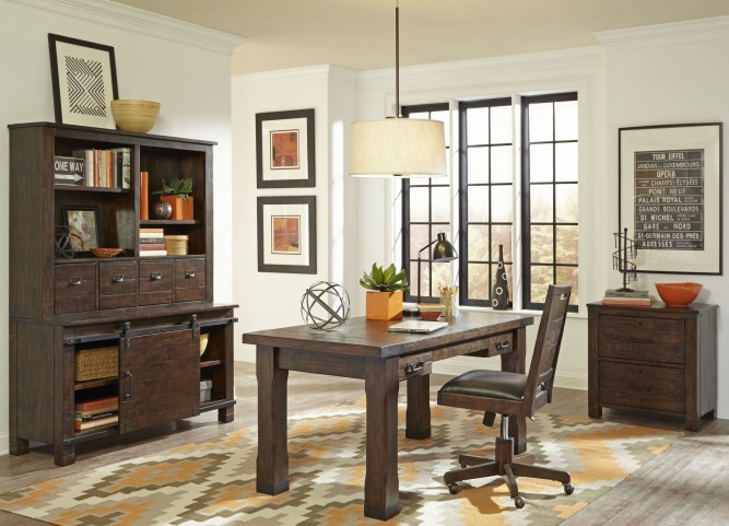 Pine Hill Rustic Pine Writing Desk Home Office Set
