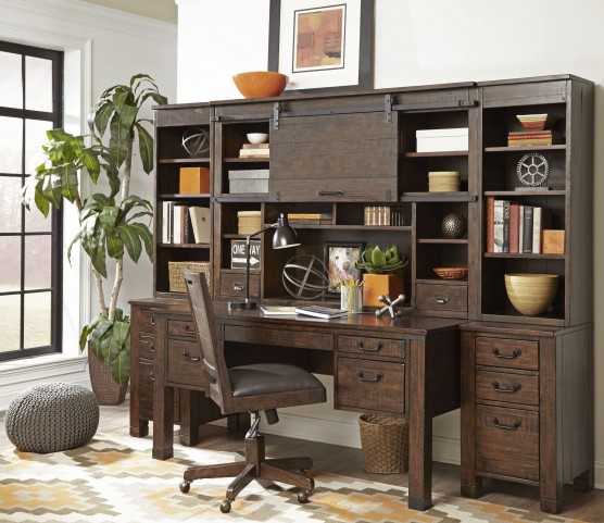 Pine Hill Rustic Pine Secretary Home Office Set