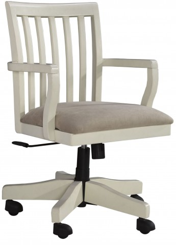 Sarvanny Cream Home Office Desk Chair