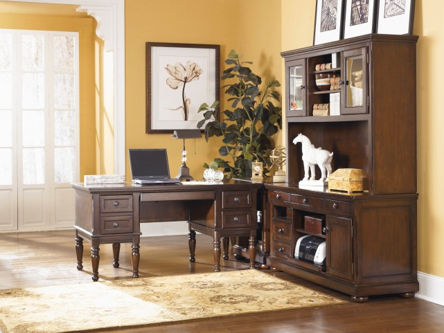 Porter Burnished brown Home Office Set