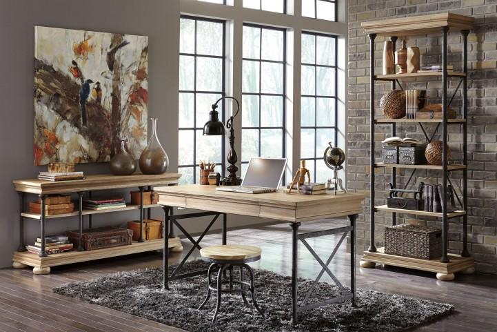 Shennifin Light Brown Home Office Set