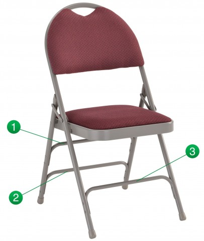 Hercules Series Ultra-Premium Burgundy Fabric Folding Chair