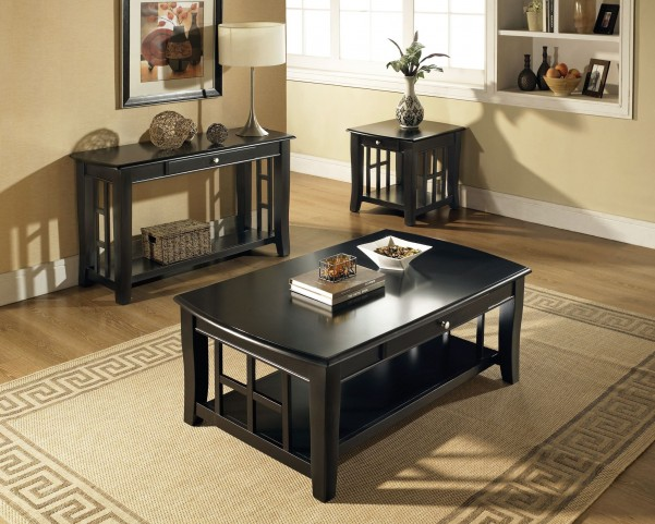 Cassidy Ebony Occasional Table Set