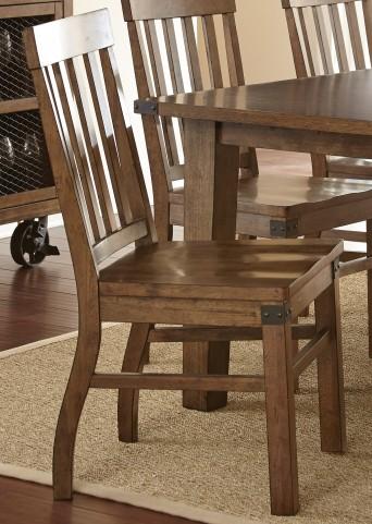 Hailee Antique Oak Side Chair Set of 2