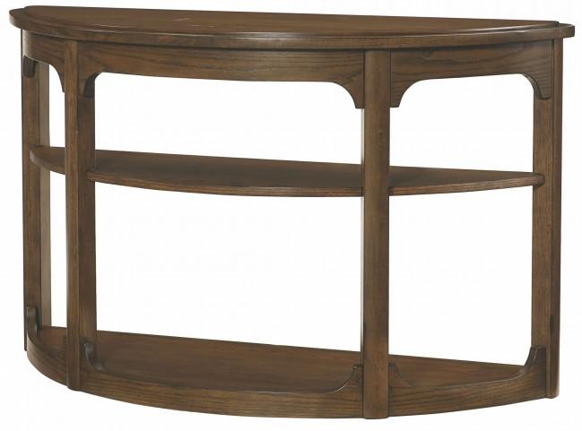 Facet Smoky Brown Oak Sofa Table
