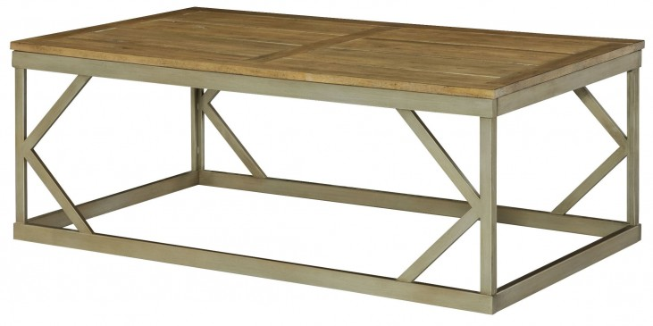 Modern Theory Aged Natural Rectangular Cocktail Table