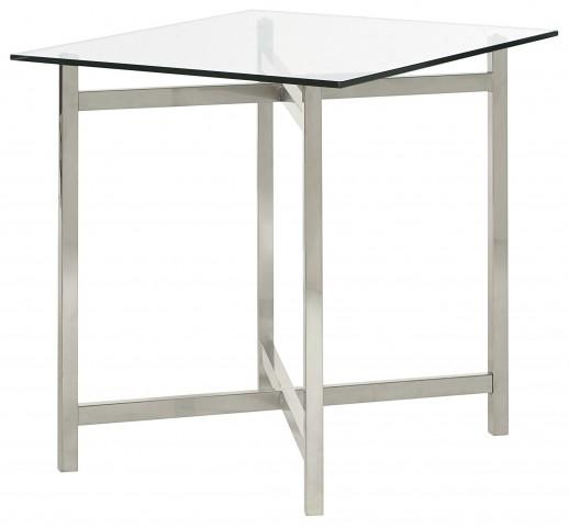 Xpress Sable & Satin Nickel Rectangular End Table