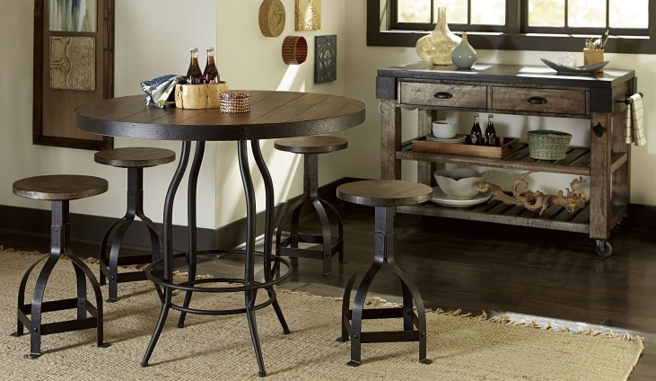 Hidden Treasures Counter Height Dining Room Set