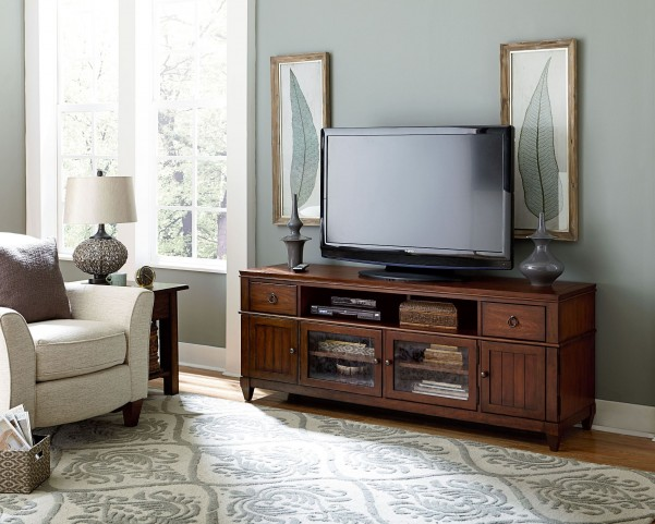 Sunset Valley Rich Mahogany Entertainment Console