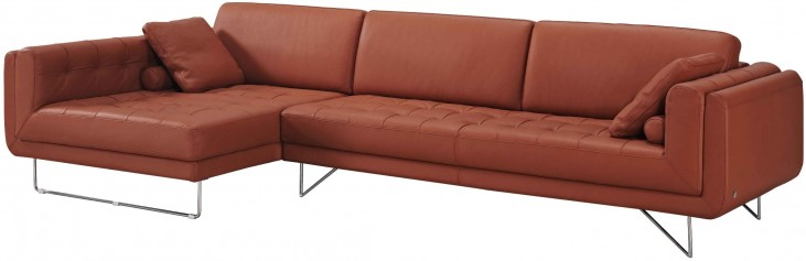 Hampton Premium Leather LAF Chaise Sectional