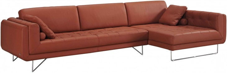 Hampton Premium Leather RAF Chaise Sectional
