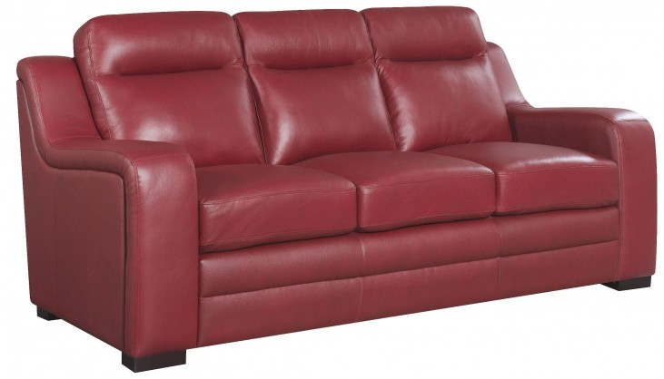 Hanson Red Sofa