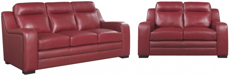 Hanson Red Living Room Set