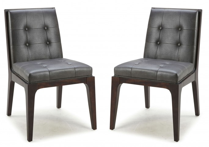 Harrison Gunmetal Grey Dining Chair Set of 2