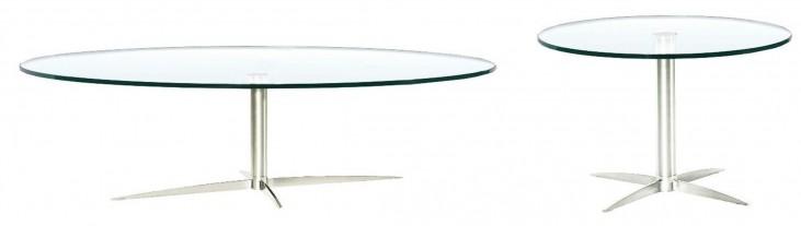 Havana-2-G Glass Occasional Table Set