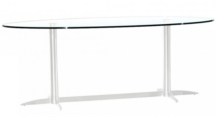 Havana-2-G Oval Glass Dining Table