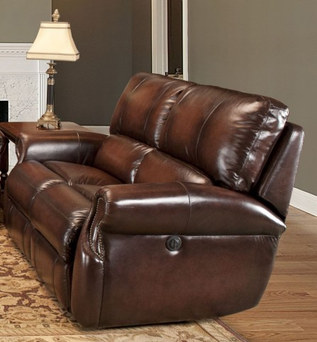 Hawthorne Brown Wipe Dual Power Reclining Loveseat