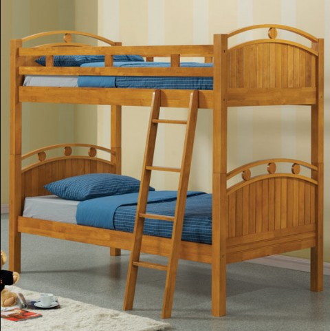 Fillmore Oak Finish Twin over Twin Bunk Bed