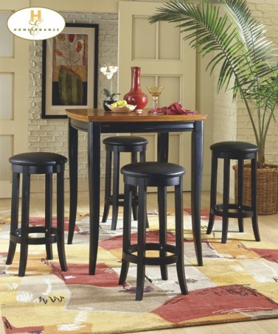 Liz Cherry 3 Piece Pub Table Set