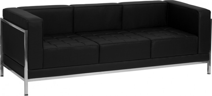 Hercules Imagination Series Black Leather Sofa