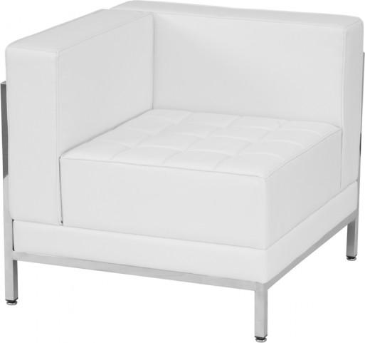 Hercules Imagination Series White Leather Left Corner Chair