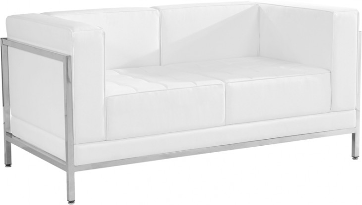 Hercules Imagination Series White Leather Loveseat
