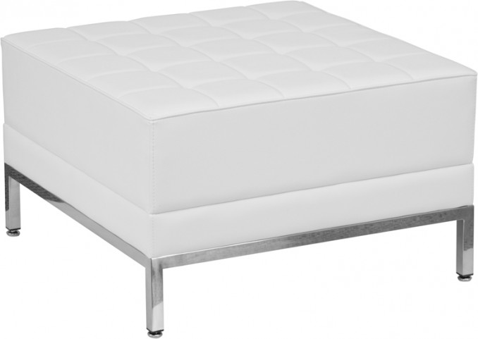 Hercules Imagination Series White Leather Ottoman