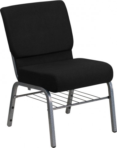 Hercules Series Extra Wide Black Church Chair