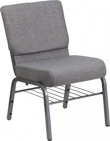 Hercules Series Extra Wide Gray Church Chair