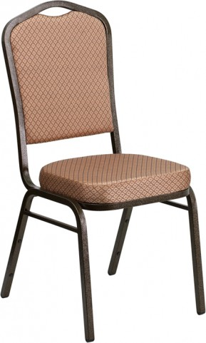 Hercules Series Crown Back Stacking Gold Diamond Fabric Banquet Chair