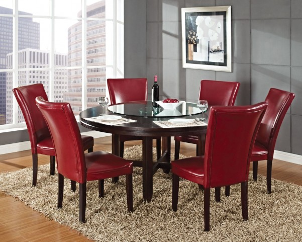 "Hartford Dark Oak 62""Round Dining Room Set"
