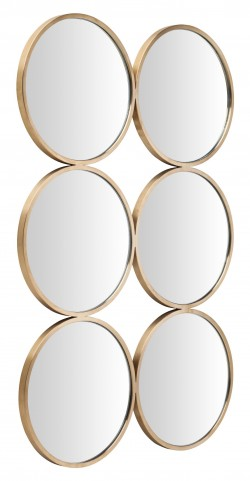 Radeau Gold Metal Wall Mirror
