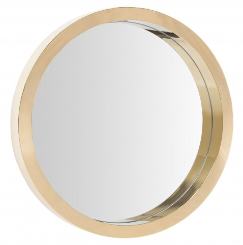 "Julia 35"" Gold Stainless Wall Mirror"