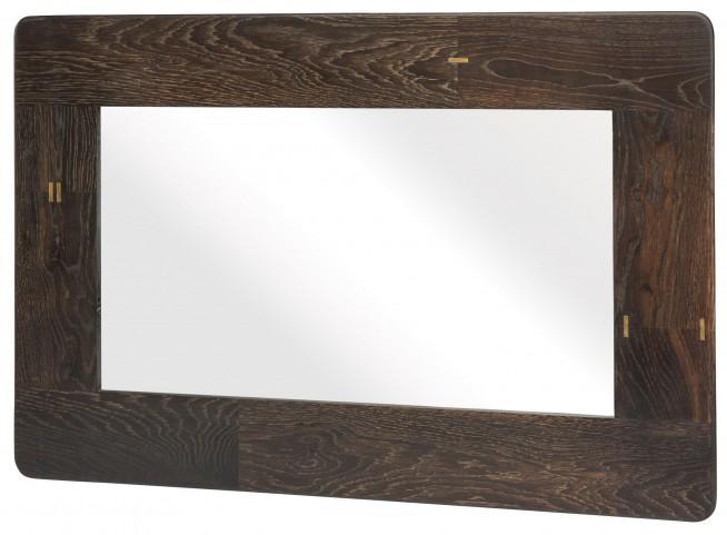 """Kulu 36"""" Seared Wood Wall Mirror"""