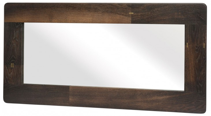 "Kulu 48"" Seared Wood Wall Mirror"